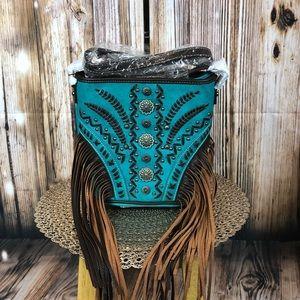 Montana West Fringe Bucket Shape Crossbody Bag